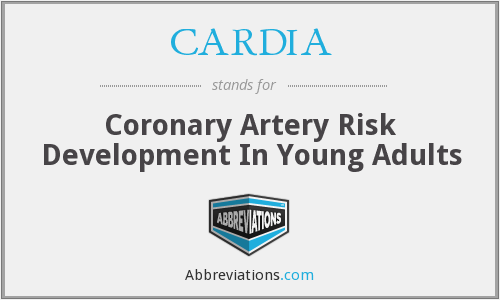 CARDIA - Coronary Artery Risk Development In Young Adults