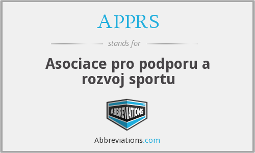 What does APPRS stand for?