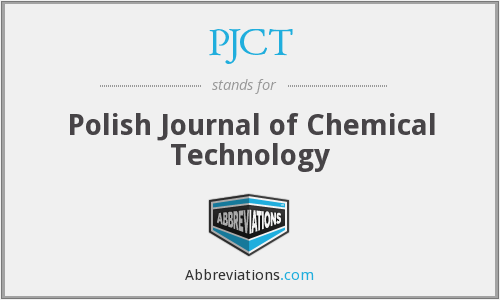 PJCT - Polish Journal of Chemical Technology