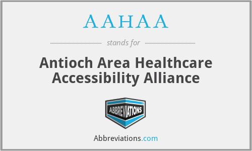 AAHAA - Antioch Area Healthcare Accessibility Alliance