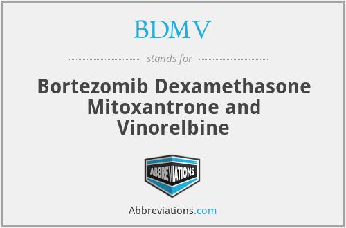 BDMV - Bortezomib Dexamethasone Mitoxantrone and Vinorelbine