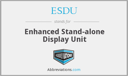 What does ESDU stand for?