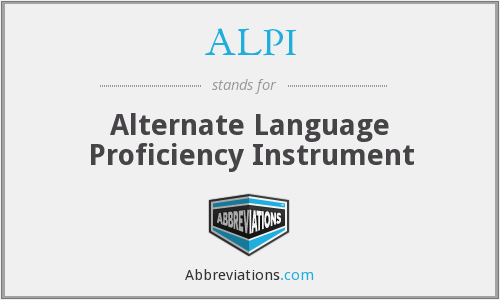 What does ALPI stand for?