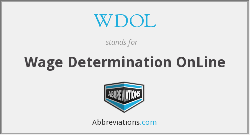 WDOL - Wage Determination OnLine