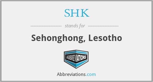 SHK - Sehonghong, Lesotho