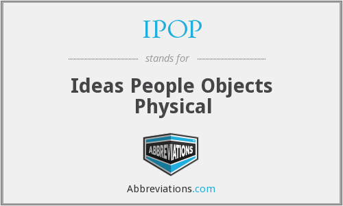 IPOP - Ideas People Objects Physical