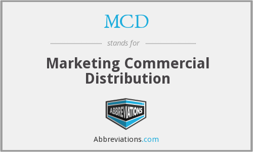 MCD - Marketing Commercial Distribution