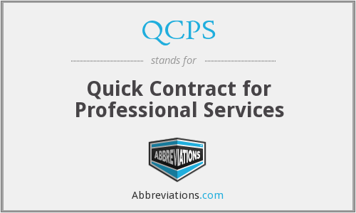 QCPS - Quick Contract for Professional Services