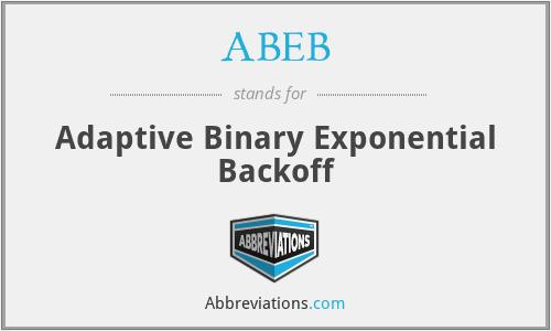 ABEB - Adaptive Binary Exponential Backoff