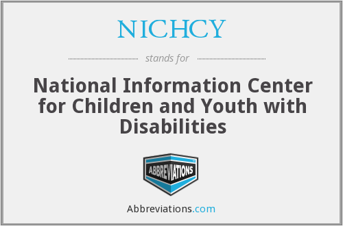 What does NICHCY stand for?