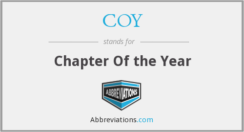 COY - Chapter Of The Year