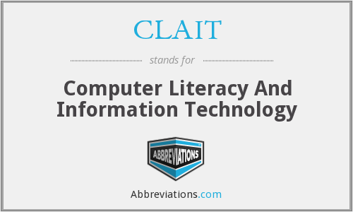 What does CLAIT stand for?