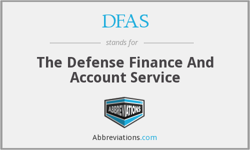 DFAS - The Defense Finance And Account Service