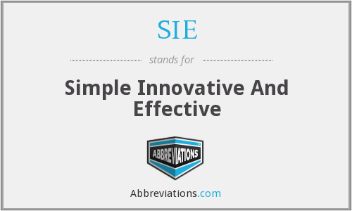 SIE - Simple Innovative And Effective