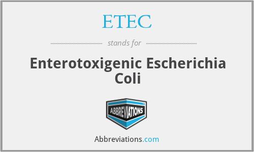 ETEC - Enterotoxigenic Escherichia Coli