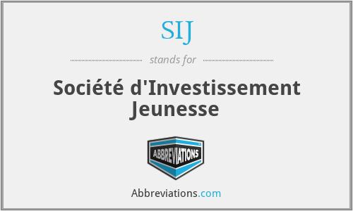 SIJ - Société d'Investissement Jeunesse