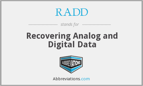 RADD - Recovering Analog and Digital Data