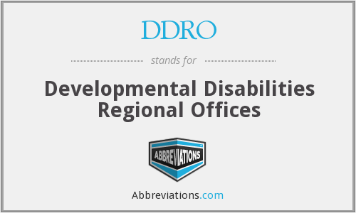 What does DDRO stand for?