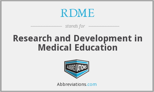 What does RDME stand for?