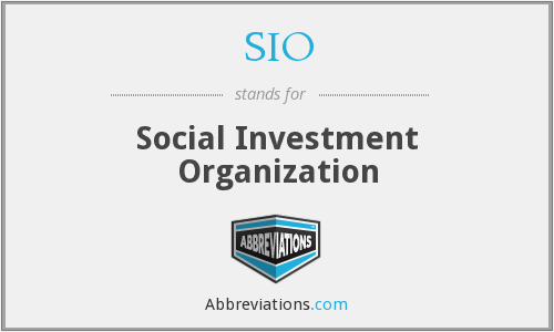 SIO - Social Investment Organization