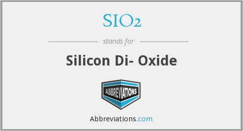 What does SIO2 stand for?