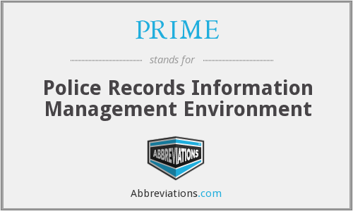 PRIME - Police Records Information Management Environment