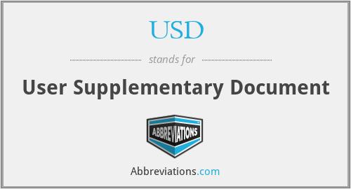 USD - User Supplementary Document