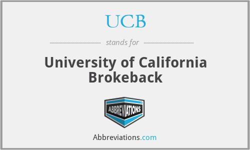 UCB - University of California Brokeback