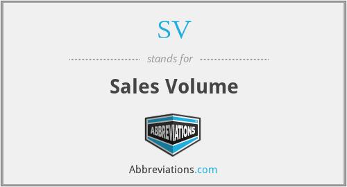 SV - Sales Volume