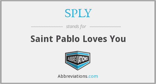 SPLY - Saint Pablo Loves You