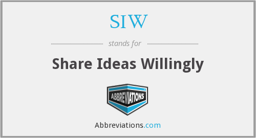 SIW - Share Ideas Willingly