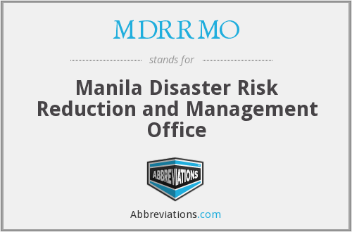 What does MDRRMO stand for?