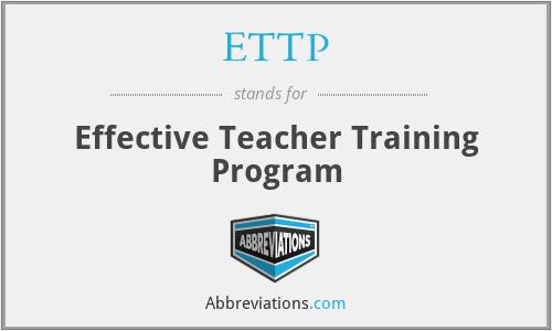 ETTP - Effective Teacher Training Program