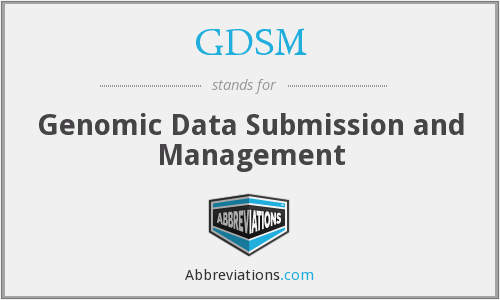 GDSM - Genomic Data Submission and Management