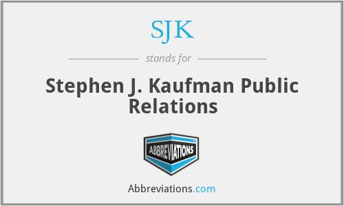 SJK - Stephen J. Kaufman Public Relations