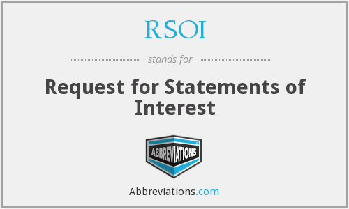 RSOI - Request for Statements of Interest