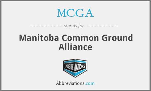MCGA - Manitoba Common Ground Alliance