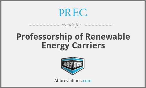 PREC - Professorship of Renewable Energy Carriers
