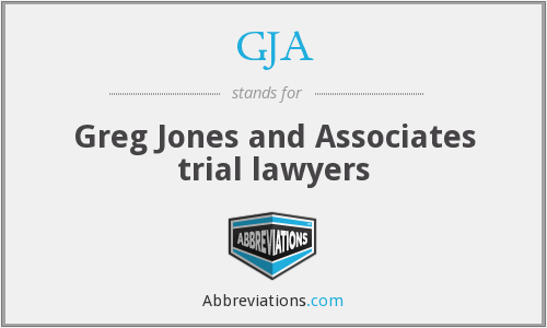 GJA - Greg Jones and Associates trial lawyers