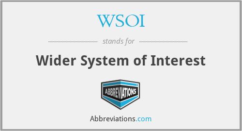 WSOI - Wider System of Interest