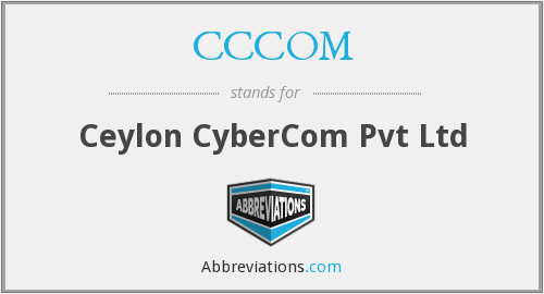 What does CCCOM stand for?