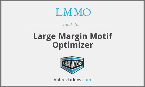 LMMO - Large Margin Motif Optimizer