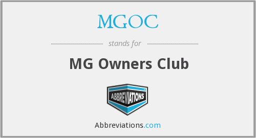 What does MGOC stand for?