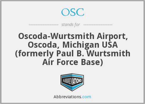 OSC - Oscoda-Wurtsmith Airport, Oscoda, Michigan USA (formerly Paul B. Wurtsmith Air Force Base)