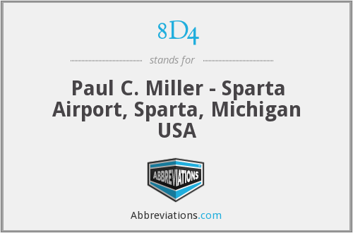 8D4 - Paul C. Miller - Sparta Airport, Sparta, Michigan USA