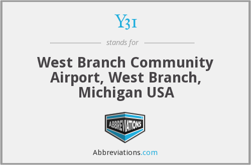 Y31 - West Branch Community Airport, West Branch, Michigan USA