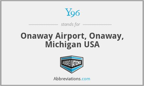 Y96 - Onaway Airport, Onaway, Michigan USA