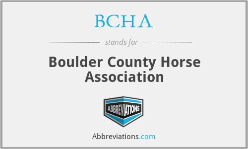 BCHA - Boulder County Horse Association