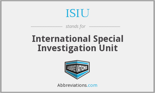 ISIU - International Special Investigation Unit