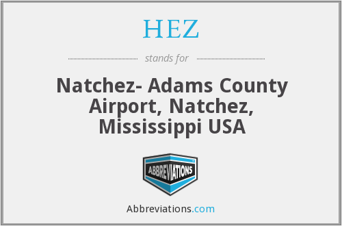 HEZ - Natchez- Adams County Airport, Natchez, Mississippi USA